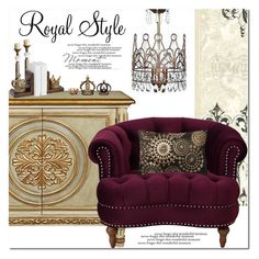 """Royal Style"" by ansev ❤ liked on Polyvore featuring interior, interiors, interior design, home, home decor and interior decorating"