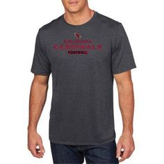 NFL Men's Arizona Cardinals Synthetic Tee, Size: XL, Black