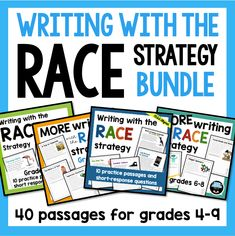 Races Writing Strategy, Race Writing, Close Reading Strategies, Writing Strategies, Writing Prompts, Writing Ideas, Writing Activities, Text Based Evidence, Constructed Response