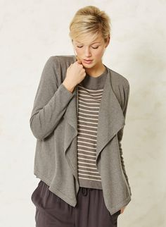 Grey Organic Cotton Cardigan