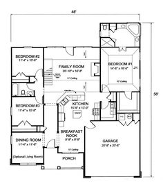 small open house plans   Plan #1923 Floor Plan   Home plans I Love ...