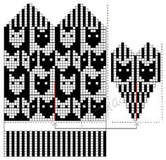 Knitted Mittens Pattern, Knit Mittens, Knit Crochet, Fair Isles, Chart, Sewing, Knitting, Gloves, Album