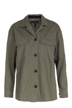 rag & bone / JEAN Baumwoll-Hemdbluse Military-Style Khaki bei myClassico…