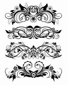ornamentos florais vetoriais