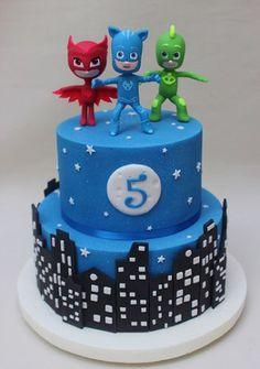 tortas de heroes en pijamas3