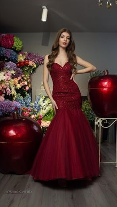 Indian Wedding Gowns, Indian Gowns Dresses, Red Gowns, Indian Fashion Dresses, Tulle Prom Dress, Mermaid Dresses, Mermaid Gown Prom, Stylish Dresses, Elegant Dresses