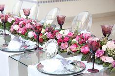 cor das flores e das taças !!!