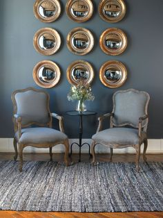 Uttermost Willa Armchairs. #uttermost #chairs #armchairs #accentchairs #mirror #mirrors