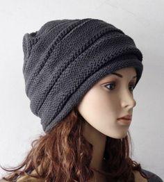 56c2bc13df5 Women New Beanie Hat Knit Ski Snow Cap Korea Beret Hat Warm Winter Gray H160