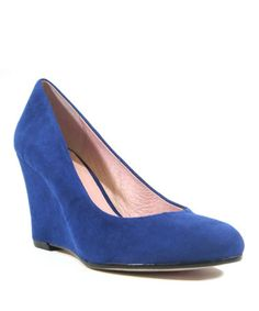 Look what I found on #zulily! Blue Cupid Wedge #zulilyfinds. $34.99, regular $70.00.  Coming 4/7