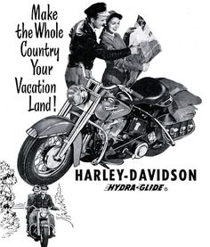 vintage harley davidson | ... Great Highway: Retro Rewind. Vintage Harley Davidson Advertisements #HarleyDavidson #Vintage