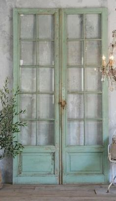 old doors the color of sea glass by yesenia
