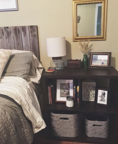 Cube night stand doubles as storage – adorable and genius!