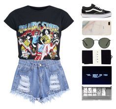 """""""Call Me Baby"""" by zhafirahratu ❤ liked on Polyvore featuring Vans, Ray-Ban, Falke and Boohoo"""