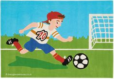 Childrens Rugs, Football, Games For Kids, Boy Or Girl, Soccer, Kids Rugs, Colours, Pattern, Fictional Characters