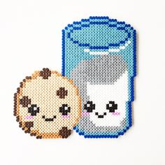 Milk & Cookie perler beads by perler_art