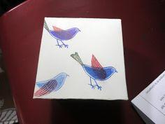 Coffret de trois tampons pour un joli oiseau mobile