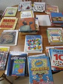 For my math friends: A huge list of books that can be integrated into math lessons! The list is even divided by math topic.