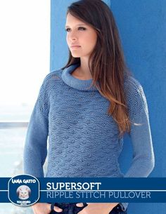 SuperSoft - Ripple Stitch Pullover from  by Lana Gatto at KnittingFever.com