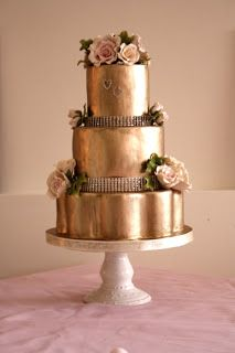 beautiful gold cake