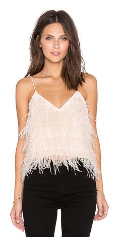 LUCY PARIS Tiny dancer feather cami found on Nudevotion