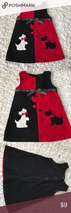 Super Cute baby girl Dress Black & red baby Girl Dress Bonnie Baby Dresses