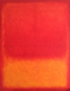 Red over Yellow Colorfieldpainting