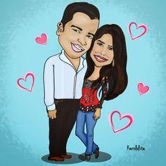 Love Couple - Pareja - Amor - Caricature - Caricatura