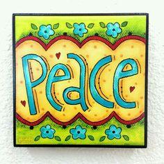 PEACE - Whimsical Art Block