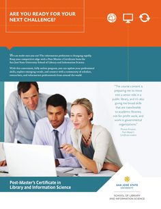 Post-Master's Certificate in Library and Information Science Brochure by San Jose State University School of Library and Information Science via Slideshare