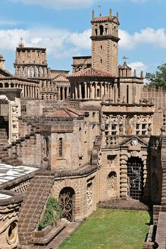 La Scarzuola, Italy ~ Also known as the Città Buzziana, began as a convent which has been transformed into a mad collection of buildings embellished with artwork and sculpture,