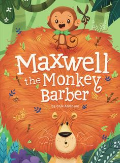 Maxwell the Monkey Barber, by Cale Atkinson (released August Maxwell the monkey barber cuts the hair of all his jungle neighbors, but when a bald elephant lumbers into his shop Maxwell needs to come up with a solution! Book Cover Design, Book Design, Drawing, Beautiful Book Covers, Children's Book Illustration, Book Illustrations, Cute Art, Childrens Books, Illustrators