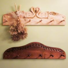 Swans and Sunset Coat Rack Woodworking Plan by Eugenie Woodcraft