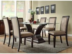 7pc Plano Dining Room Table Set http://www.maxfurniture.com/dining/dining-sets/7pc-plano-dining-room-set-by-home-elegance.html