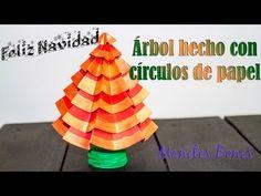 Árbol de navidad hecho con círculos de papel   Turorial DIY – Viernes de papel  