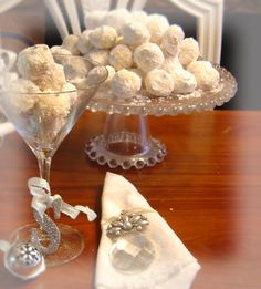 Beautiful display of Swedish Wedding Cookies!