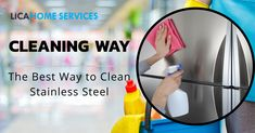 Dip a cloth into the mixer of hot water and dish detergent and wipe into stainless steel and after that wipe again with dry clothes.   For other house cleaning service call - 1300480092 Best Bond, Dish Detergent, House Cleaning Services, Urban City, Pest Control, Clean House, Brisbane, Mixer, Dip