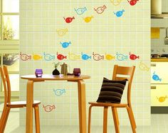 28 pieces Art Decal Home Room Cartoon Fish Removable Wall Decor Sticker Vinyl Kids Bathroom   16050902