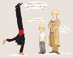 omfg it's like in The Emperor's New Groove with Kronk and his little devil and angel I GET IT THATS FUNNY