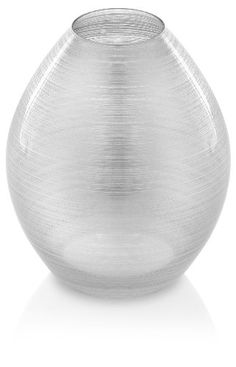 IVV Glassware Zodiaco Vase, 9-7/8-Inch Height, Silver Leaf Decoration -- Continue to the product at the image link.