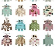 Just bought a roll of this for AP's room! Robot wallpaper!