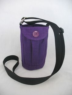 Water Bottle Holder Sling//Walkers Insulated by TheSewingMenagerie