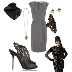 """Evil Queen from Once Upon a Time. Everything is awesome! This really is more inspired by her """"modern day"""" outfit - she wears a similar grey dress in one episode."""