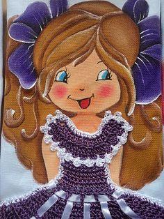 LOURDES ARTESANATOS 2011: bonecas com vestido de croche