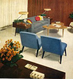 retro chic: midcentury lounge