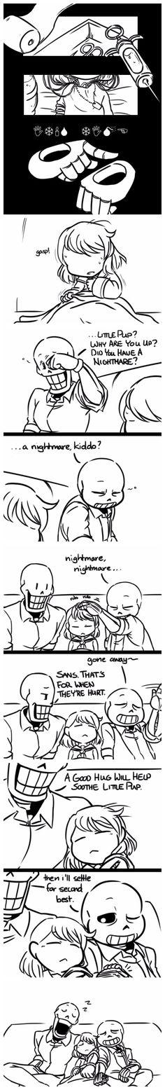 Frisk, Papyrus, and Sans - MobsterUT AU - comic