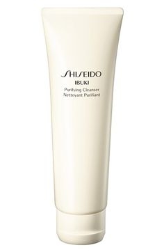 Shiseido 'Ibuki' Purifying Cleanser. I got this at Nordstrom, and I love it. This is the one you can lather up.
