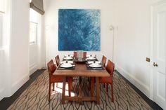 Dining room   Dining room interior   Contemporary dining room   Blue interior   Classic interior   Interior design   Home inspiration