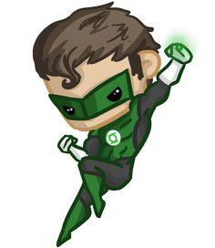 Super Chibis: Green Lantern/ Hal Jordan by Ijen-Ekusas.deviantart.com on @DeviantArt