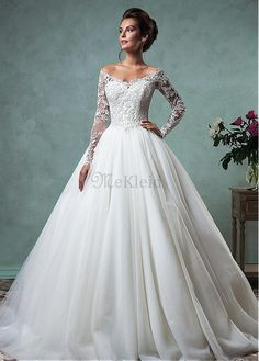 Cheap robe de mariage, Buy Quality modern bride directly from China bridal gown Suppliers: High Quality Modern Bride Gowns Lace Long Sleeves Off the Shoulder Ball Gown Wedding Dress Bridal Gowns Vintage Robe De Mariage Popular Wedding Dresses, Disney Wedding Dresses, 2016 Wedding Dresses, Trendy Wedding, Wedding Ideas, Lace Sleeve Wedding Dress, Lace Dress, A Line Wedding Dress With Sleeves, Lace Wedding Dress Ballgown